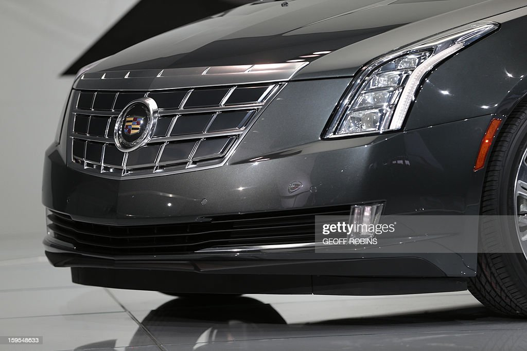 The 2014 Cadillac ELR is introduced at the 2013 North American International Auto Show in Detroit, Michigan, on January 15, 2013. AFP PHOTO/Geoff Robins