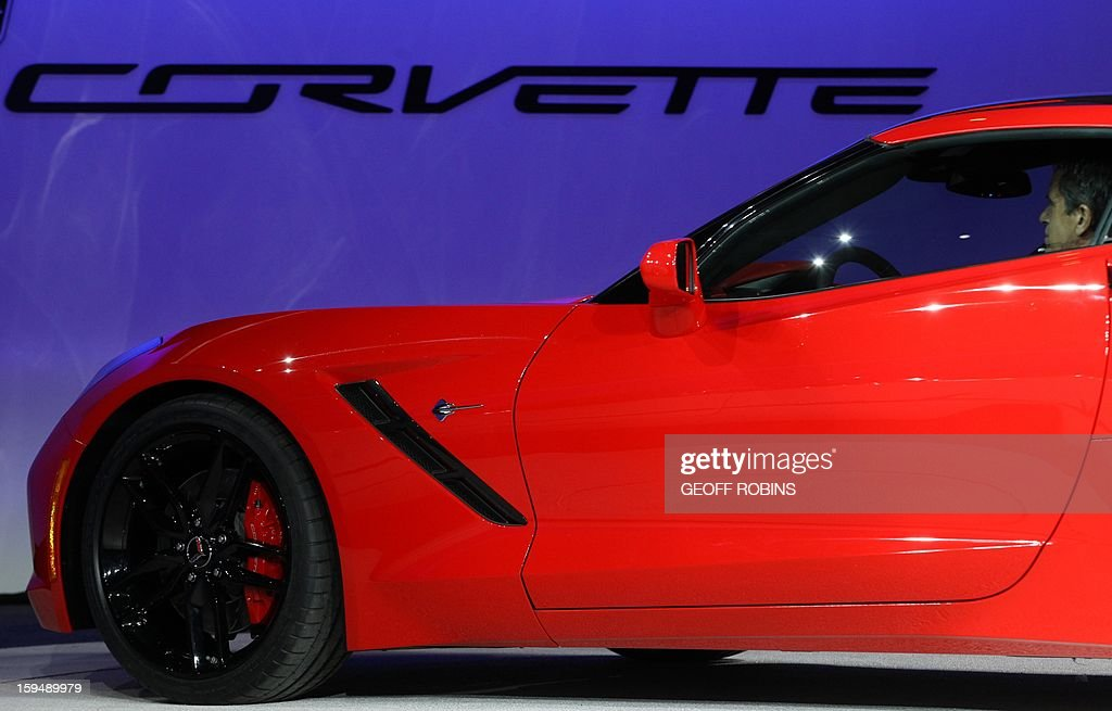 The 2014 Corvette Stingray is introduced at the 2013 North American International Auto Show in Detroit, Michigan, January 14, 2013. AFP PHOTO/Geoff Robins