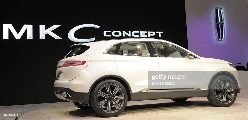 The 2014 Lincoln MKC Concept cross-over SUV is introduced at the 2013 North American International Auto Show in Detroit, Michigan, January 14, 2013. AFP PHOTO/Stan HONDA