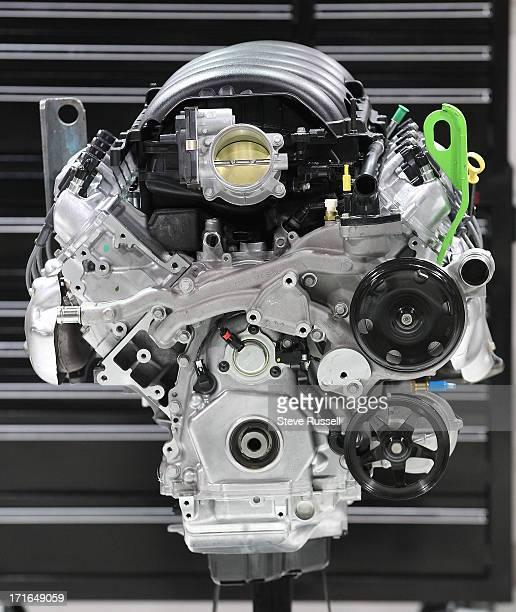 The 2014 Silverado 55 litre ecotec3 V8 engine at the Canadian International Auto Show at the Metro Toronto Convention Centre in Toronto February 20...