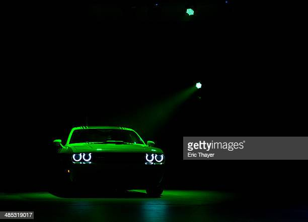 The 2015 Dodge Challenger is unveiled during a media preview of the 2014 New York International Auto Show in New York The show opens with a sneak...