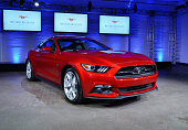 The 2015 Ford Mustang took center stage at the official reveal of the Mustang Unleashed collection at Highline Stages on September 18 2014 in New...