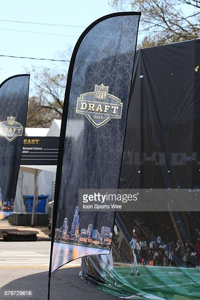 The 2015 Golden Draft Logo Logo inside Grant Park The 2015 NFL Draft is being held in Chicago IL