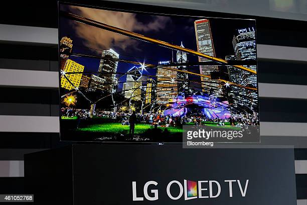 The 2015 LG Electronics Inc OLED television is released during the 2015 Consumer Electronics Show in Las Vegas Nevada US on Monday Jan 5 2015 This...