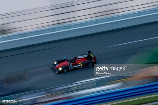 The 2015 Oreca 03 of Niki Leutwyler races on the track during the Classic 24 at Daytona Historic Sportscar Race at Daytona International Speedway on...