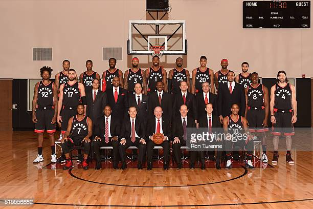 The 20152016 Toronto Raptors pose for a team photo on March 14 2016 at the Air Canada Centre in Toronto Ontario Canada NOTE TO USER User expressly...