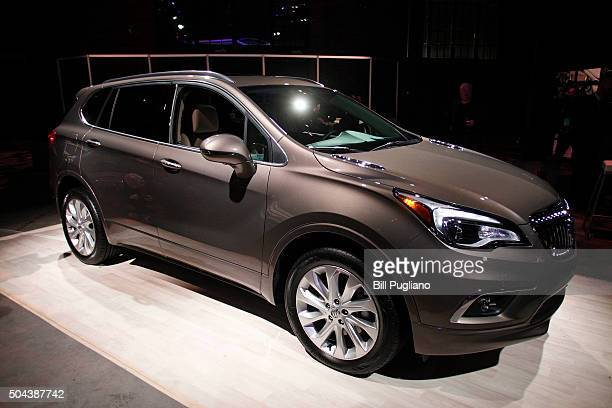 The 2016 Buick Envision crossover SUV is shown at a Buick reveal on the eve of the 2016 North American International Auto Show January 10th 2016 in...