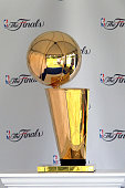 The 2016 Larry OBrien NBA Championship Trophy from the Cavaliers recent win is on display at the tournament with the option for attendees to have...
