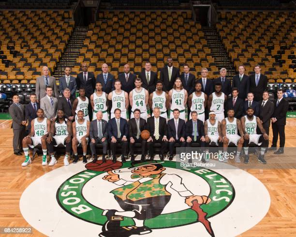 The 20162017 Boston Celtics team poses for a team photo on March 1 2017 at the TD Garden in Boston Massachusetts NOTE TO USER User expressly...