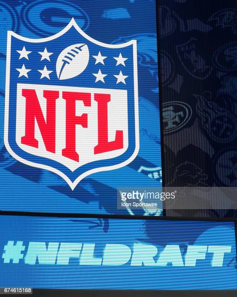 The 2017 NFL Draft logo at the NFL Draft Theater on April 27 2017 in Philadelphia PA