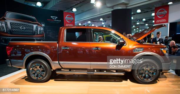 The 2017 Titan is on display March 24 at the New York International Auto Show / AFP / Don EMMERT