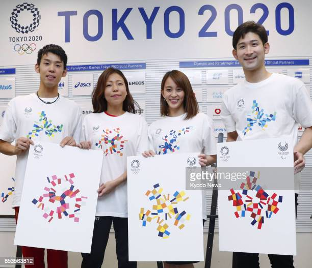 The 2020 Tokyo Olympic and Paralympic organizing committee unveils new graphic images in Tokyo on Sept 25 based on the official logos for the Games...