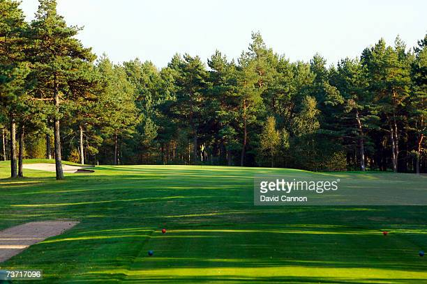 The 207 yards par 3 7th hole at the Halmstad Golfklubb venue for the 2007 Solheim Cup on September 17th in Halmstad Sweden