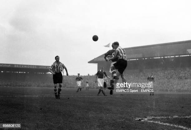 The 21yearold Swedish international Dan Ekner playing his first game for Portsmouth in the match against Sunderland at Fratton Park He is pictured in...