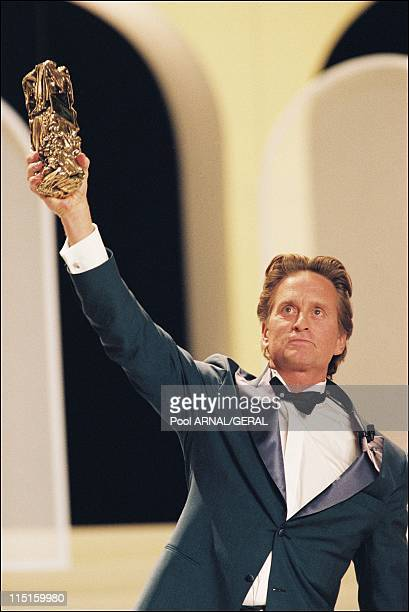 The 23rd Cesar Awards Ceremony in Paris France in February 1998 Michael Douglas