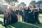 The 23rd gala evening of AmFar CEO of L'Oreal Cyril Chapuy is photographed with top models for Paris Match in Cap d Antibes at the Hotel CapEdenRoc...