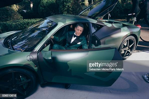 The 23rd gala evening of AmFar Lapo Elkann is photographed for Paris Match in Cap d Antibes at the Hotel CapEdenRoc on May 19 2016