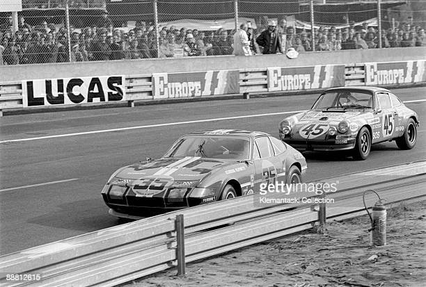 The 24 Hours of Le Mans Le Mans June 1011 1972 The Ferrari 365GTB/4 Daytona of Bernard Cheneviere Florian Vetsch and Gerard Pillon which retired in...
