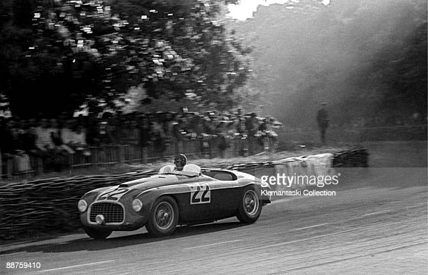The 24 Hours of Le Mans Le Mans June 2526 1949 Luigi Chinetti guides his Ferrari 166MM through Tertre Rouge on the way to a very important win