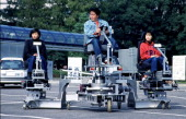 The 24Th Toyota Idea Olympics At Toyota Motor Corporation In Toyota City Japan On November 06 1999 Gold Prize Dream Walker Car 'Triple Car'