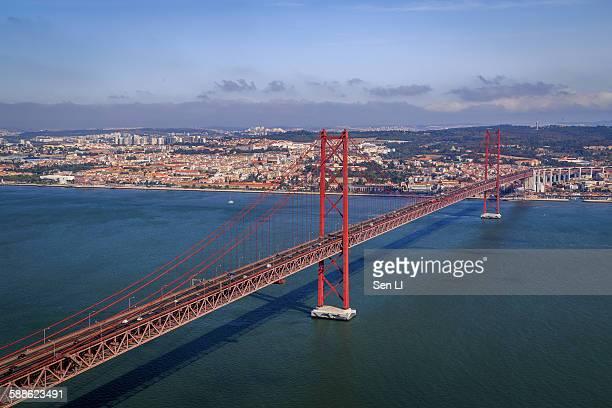 The 25 de Abril Bridge in Lisboa
