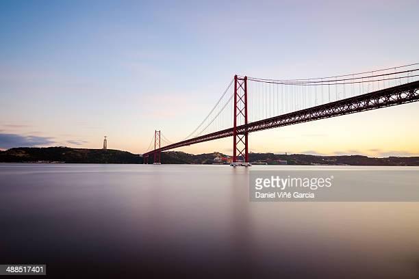 The 25 de Abril bridge over Tagus river