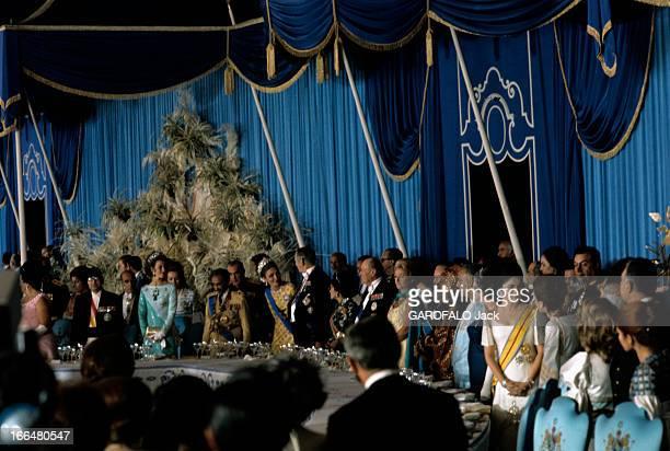 The 2500Th Anniversary Of The Persian Empire Persépolis octobre 1971 Lors des trois jours de fêtes célébrant le 2500ème anniversaire de la fondation...