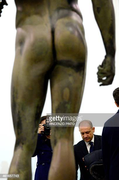 The 2500yearold Riace Bronzes are displayed in a renovated Reggio Calabria National Archeological Museum on January 9 following four years of...