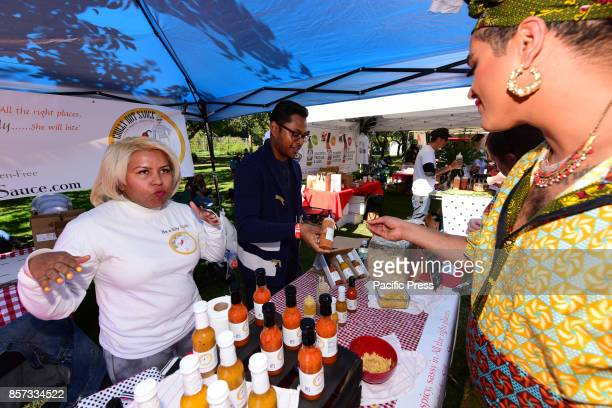 The 25th annual Brooklyn Botanic Gardens Chile Pepper Festival brought nearly 50 artisanal chile vendors to the Garden's Cherry Esplanade