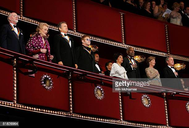 The 27th Annual Kennedy Center Honorees conductor John Williams opera diva Joan Sutherland actor Warren Beatty music legend Elton John and actors...