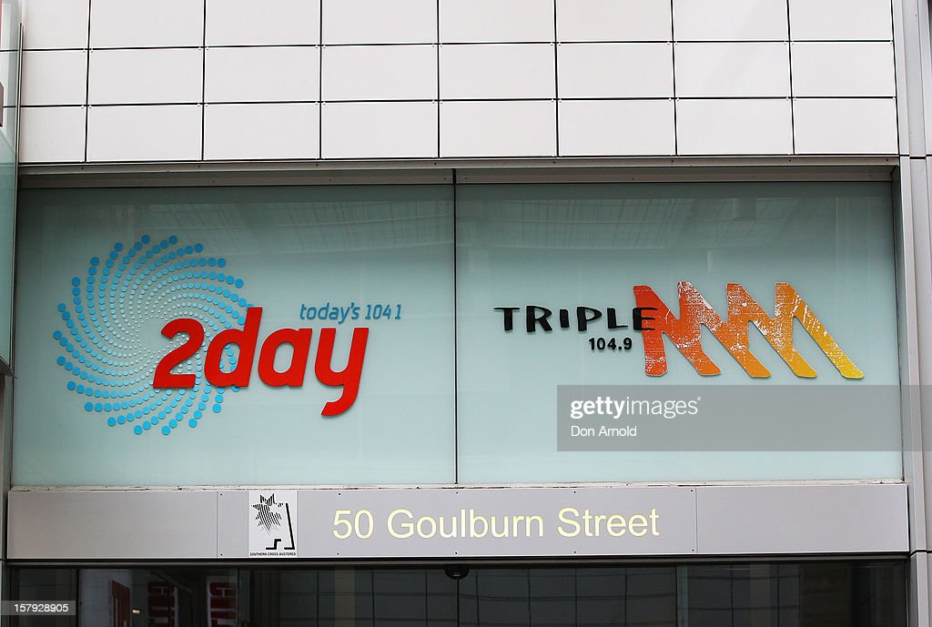 The 2dayFM and Triple M logos are seen displayed above the entrance to the 2dayFm offices in Goulburn Street on December 8, 2012 in Sydney, Australia. 2dayFM Radio Presenters Mel Greig and Michael Christian have been taken off air following the suicide of royal nurse Jacintha Saldanha. Nurse Saldana took a prank call from the presenters while working at the King Edward VII Hospital where Catherine, Duchess of Cambridge was receiving treatment.