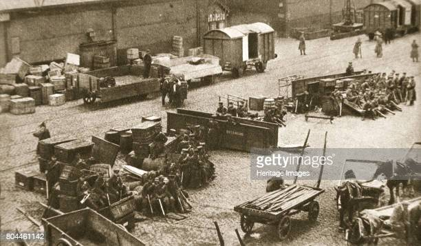 The 2nd Battalion of the Royal Sussex Regiment Belfast Ireland 1907 Guarding the docks during the dock strike of 1907 The strike organised by trade...
