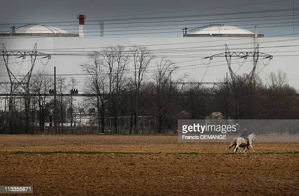 The 30 YearOld Nuclear Center In Fessenheim France On March 09 2007 The nuclear power center plants in the village of Fessenheim In the village more...