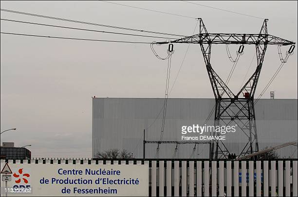 The 30 YearOld Nuclear Center In Fessenheim France On March 09 2007 The nuclear power center to the village of Fessenheim In the village more than...