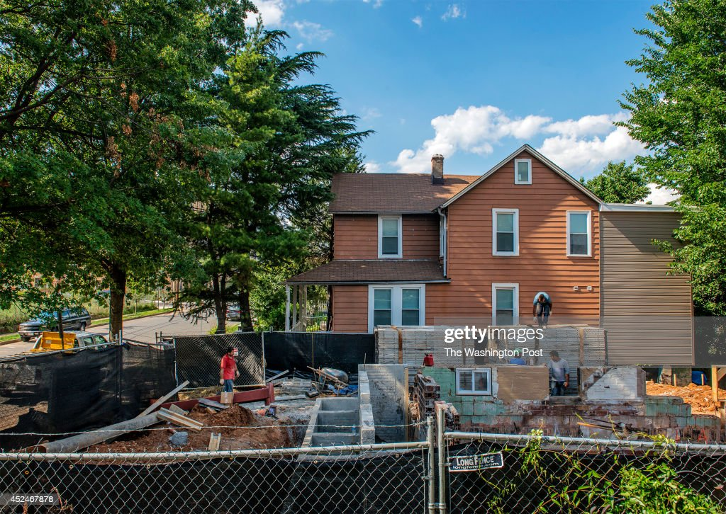 The 3300 block of 7th street, NE, will soon be home to a building made of retired shipping containers, on July, 17, 2014 in Washington, DC. Pictured, a view of the construction site from a neighbors front porch.