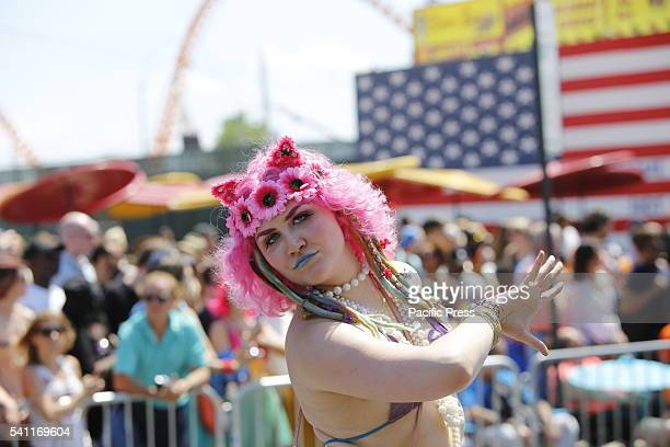 The 34th annual Coney Island Mermaid Parade considered the largest cultural artistic event in the United States filled Surf Avenue with thousands of...