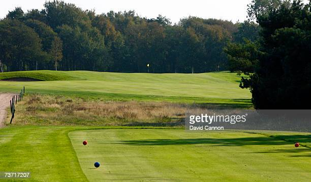 The 353 yards par 417th hole at the Halmstad Golfklubb venue for the 2007 Solheim Cup on September 17th in Halmstad Sweden