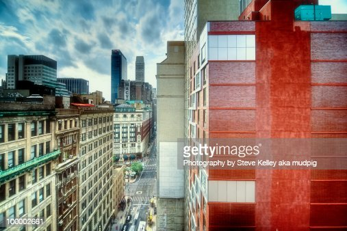 The 35th street cityscape, new york city : Stock-Foto