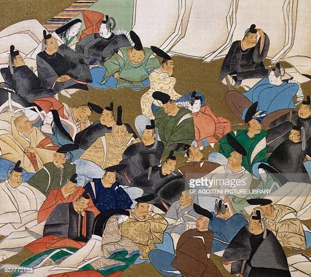 The 36 poets painting on paper by Ogata Korin Japan Edo period 17th18th century Tokyo Tokyo Kokuritsu Hakubutsukan