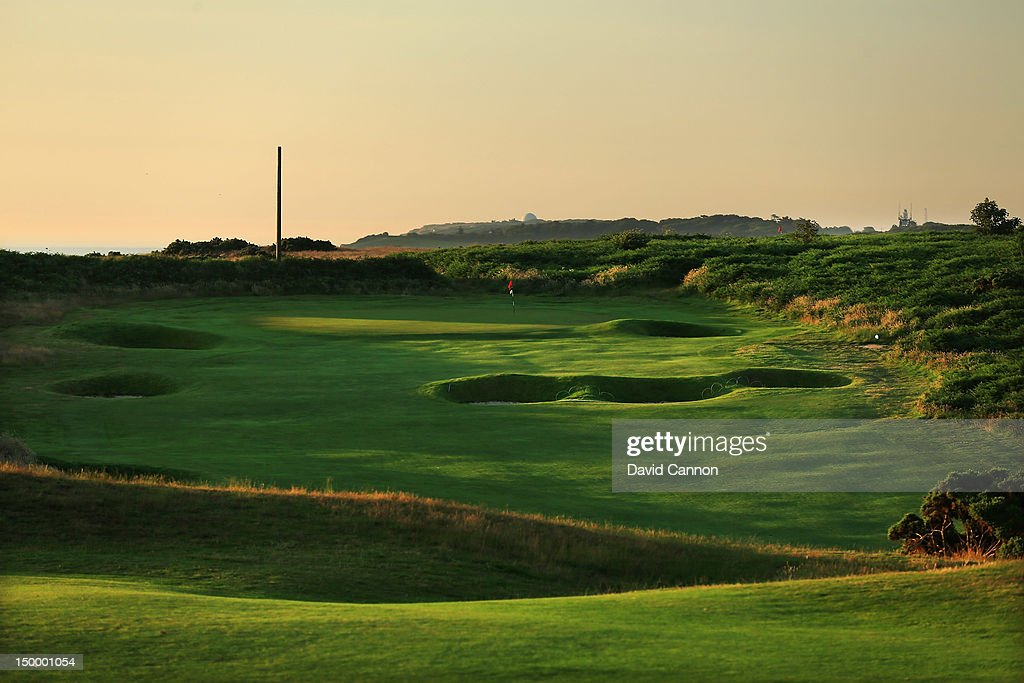 The 394 yards par 4 15th hole 'The Valley' at The Royal Cromer Golf Club on July 25 in Cromer Norfolk England