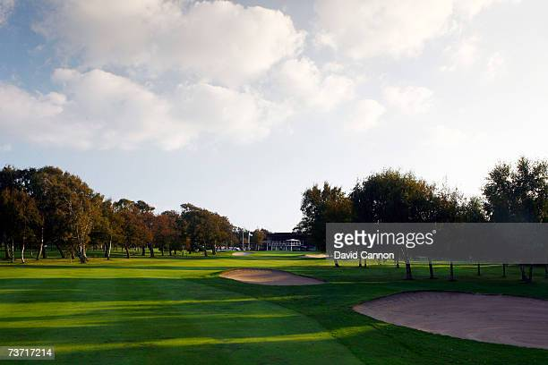 The 395 yards par 418th hole at the Halmstad Golfklubb venue for the 2007 Solheim Cup on September 17th in Halmstad Sweden