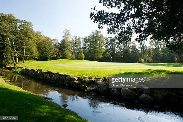 The 405 yards par 412th hole at the Halmstad Golfklubb venue for the 2007 Solheim Cup on September 17th in Halmstad Sweden