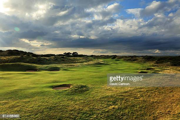 The 408 yards par 4 10th hole at Royal Birkdale Golf Club the host course for the 2017 Open Championship on October 11 2016 in Southport England