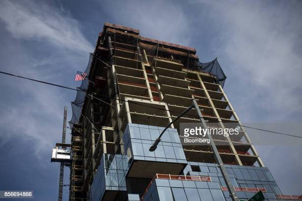 The 416 Kent Avenue apartment development stands under construction in the Williamsburg neighborhood of the Brooklyn borough of New York US on Friday...