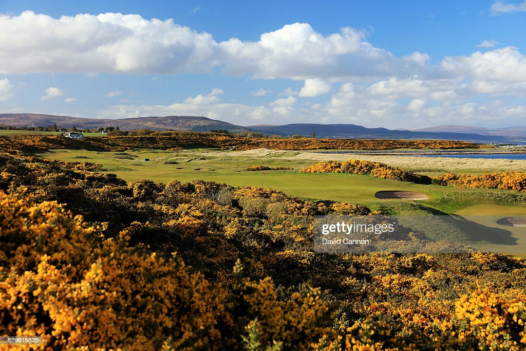 The 416 yards par 4 17th hole 'Valley' at Royal Dornoch Golf Club on May 3 2016 in Dornoch Sutherland Scotland