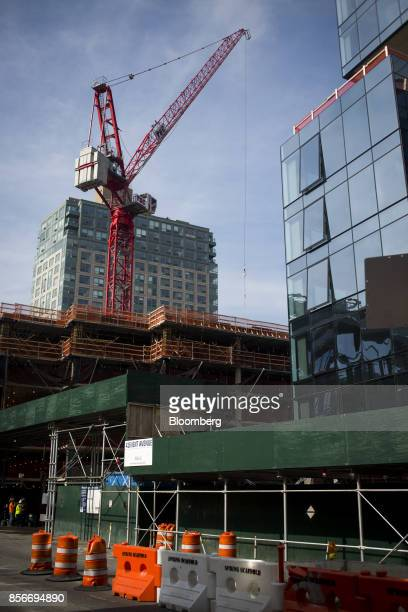 The 420 Kent Avenue apartment development stands under construction in the Williamsburg neighborhood of the Brooklyn borough of New York US on Friday...