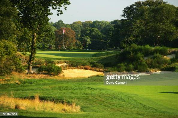 The 428 yard par 4 16th hole on the East Course at Merion Golf Club on September 22 2005 in Ardmore Pennsylvania United States