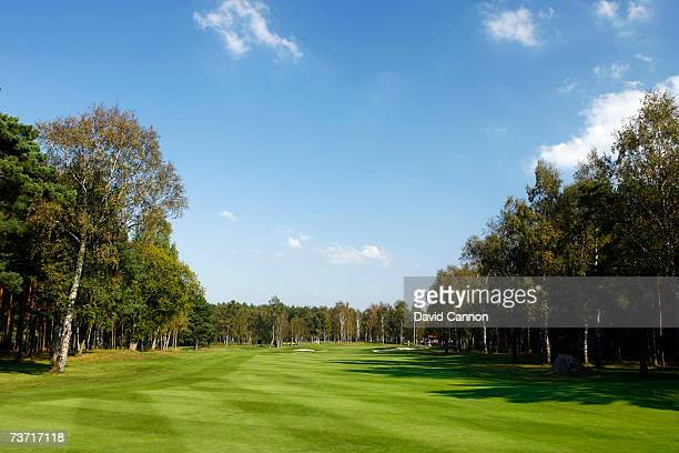 The 428 yards par 4 9th hole at the Halmstad Golfklubb venue for the 2007 Solheim Cup on September 17th in Halmstad Sweden