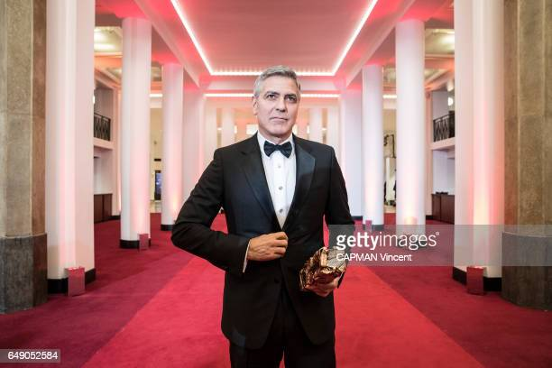 The 42nd Cesars Award ceremony in Paris at the Salle Pleyel on February 24 2017 George Clooney and his Honor Cesar