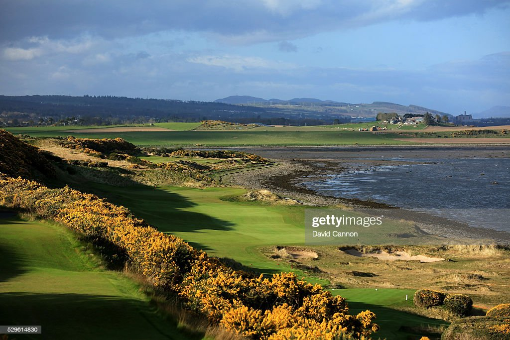 The 434 yards par 4 first hole with the par 5 second hole behind at the Castle Stuart Golf Links which was designed by Mark Parsinen and Gil Hanse on...